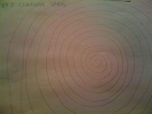 ex 3 clockwise spiral